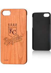 Kansas City Royals iPhone 7/8 Woodburned Cherry Wood Phone Cover