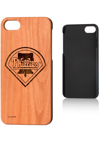 Philadelphia Phillies iPhone 7/8 Woodburned Cherry Wood Phone Cover