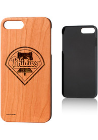 Philadelphia Phillies iPhone 7+/8+ Woodburned Cherry Wood Phone Cover