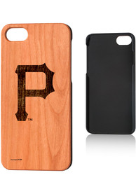Pittsburgh Pirates iPhone 7/8 Woodburned Cherry Wood Phone Cover