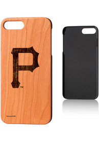 Pittsburgh Pirates iPhone 7+/8+ Woodburned Cherry Wood Phone Cover