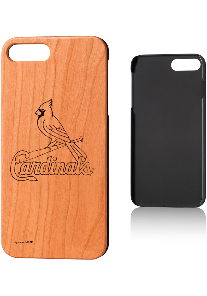 St Louis Cardinals iPhone 7+/8+ Woodburned Cherry Wood Phone Cover - Image 1