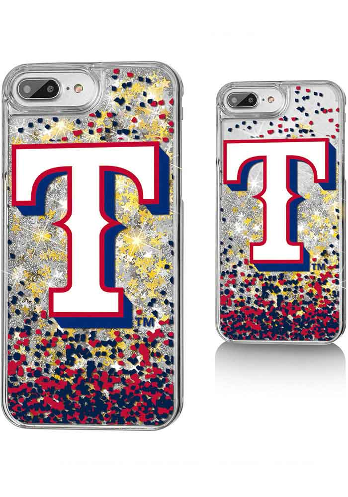 Texas Rangers iPhone 6+/7+/8+ Glitter Phone Cover - Image 1
