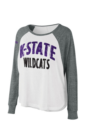 K-State Wildcats Womens Triple A White T-Shirt