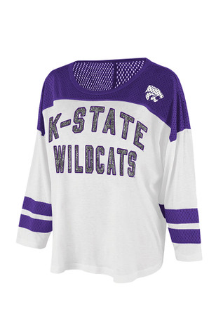 K-State Wildcats Womens Hail Mary White Scoop Neck Tee