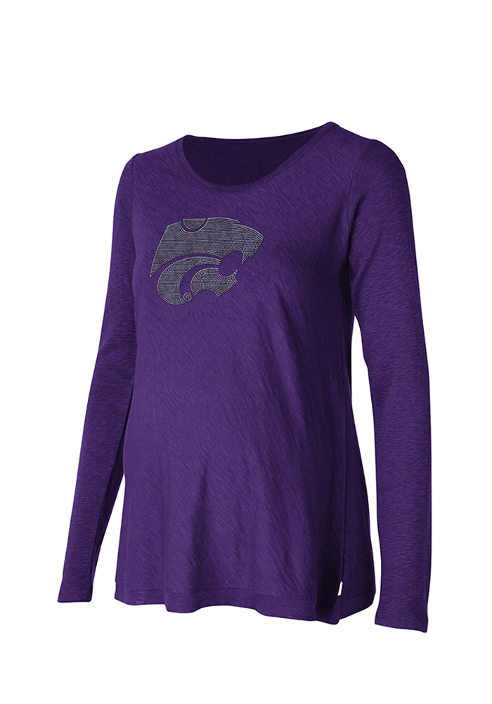 K-State Wildcats Womens Purple Bright Lights Long Sleeve Maternity Long Sleeve - Image 1