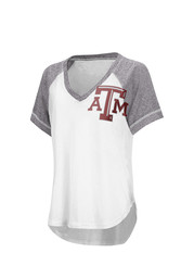 Texas A&M Womens White Closer V-Neck
