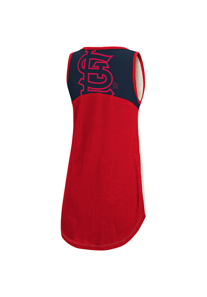 St Louis Cardinals Womens White Triple Play Tank Top - Image 2