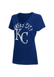 KC Royals Womens Blue Rounding the Bases V-Neck