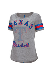 Texas Womens Double Play Gray Scoop T-Shirt