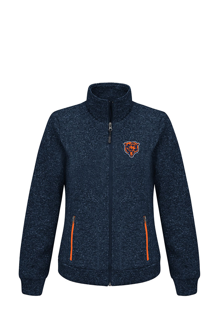 Chicago Bears Womens Navy Blue Checkpoint Light Weight Jacket - Image 1