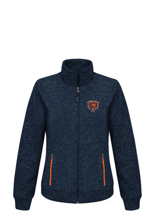 Chicago Bears Womens Navy Blue Checkpoint Light Weight Jacket