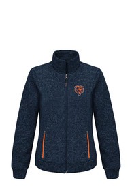 Chicago Bears Womens Checkpoint Light Weight Jacket - Navy Blue