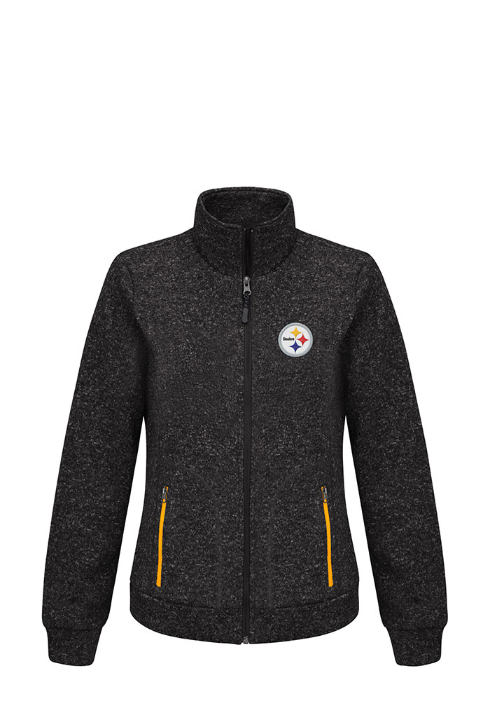 Pittsburgh Steelers Womens Black Checkpoint Medium Weight Jacket - Image 1