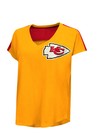 Kansas City Chiefs Womens First Down Red Short Sleeve Plus Tee