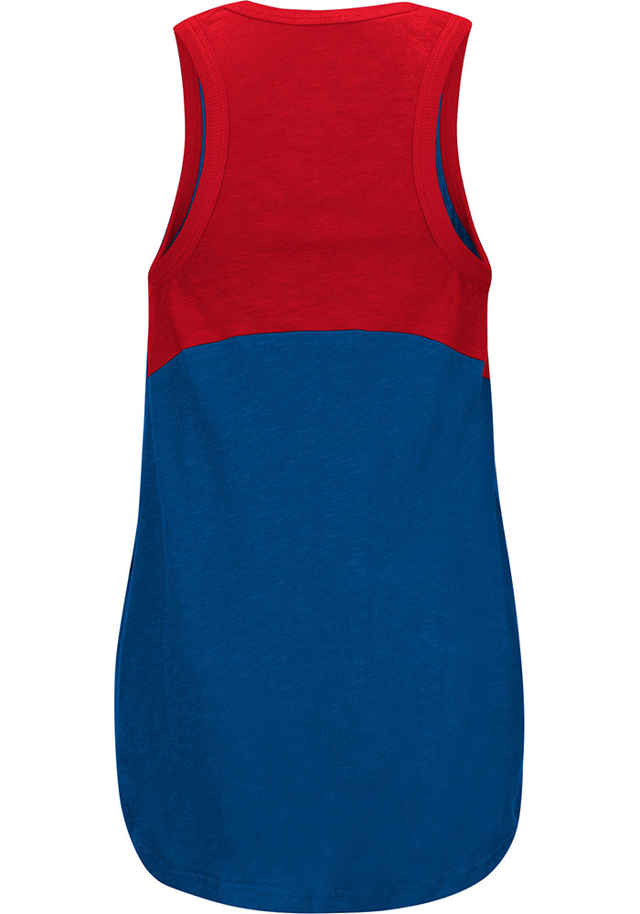 Chicago Cubs Womens Blue Power Play Tank Top - Image 2