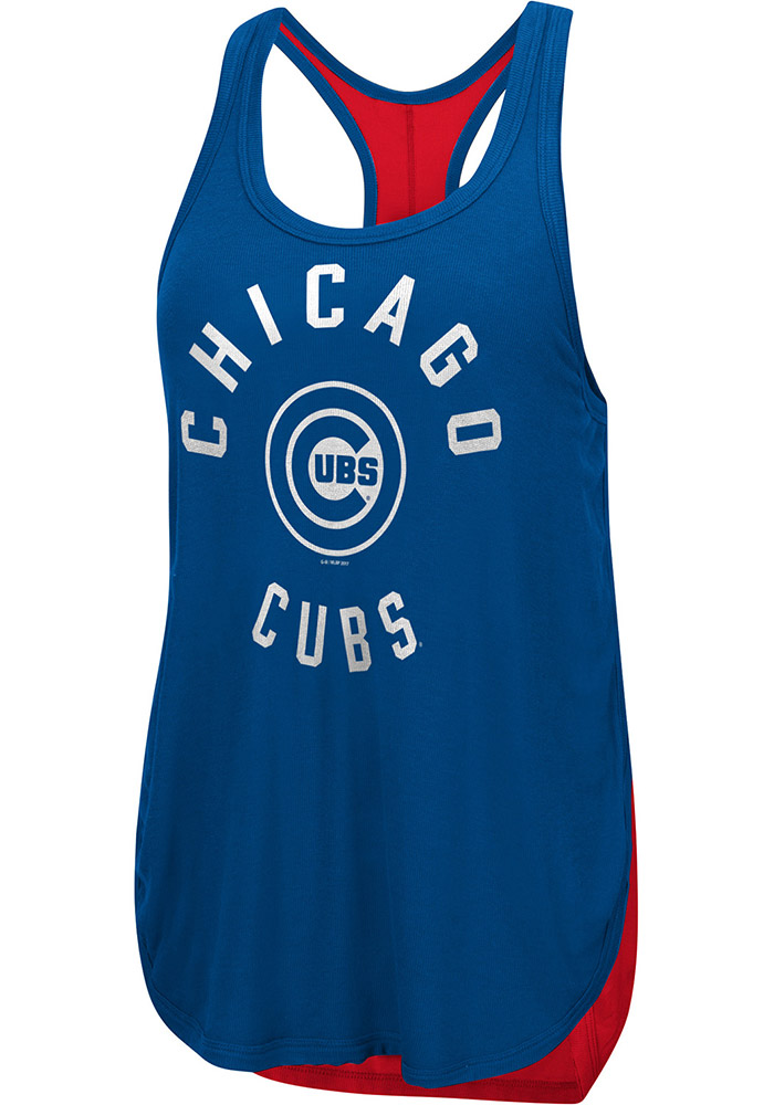 Chicago Cubs Womens Blue Equalizer Tank Top - Image 1