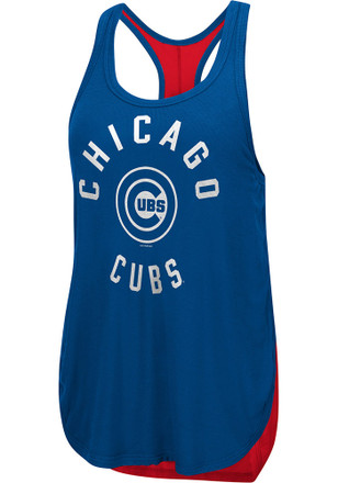 Chicago Cubs Womens Blue Equalizer Tank Top