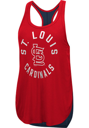St Louis Cardinals Womens Red Equalizer Tank Top
