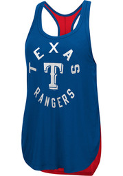 Texas Rangers Womens Equalizer Tank Top - Blue