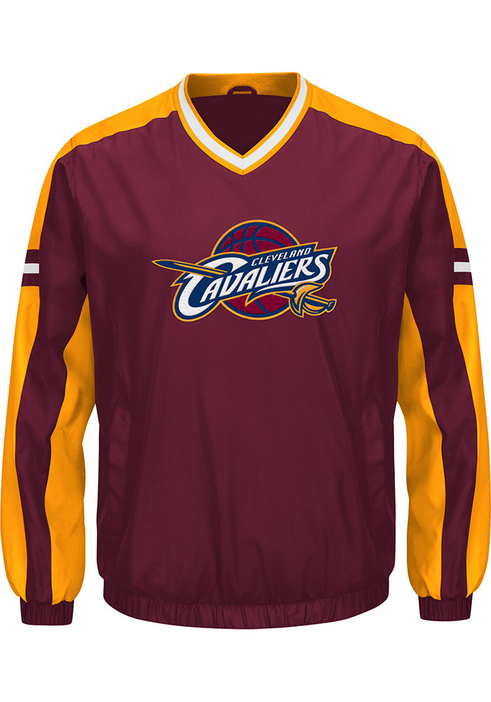 Cleveland Cavaliers Mens Maroon Draft Pick Pullover Jackets - Image 1