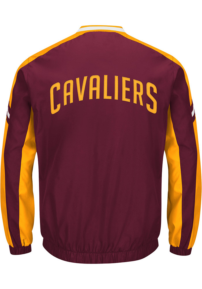 Cleveland Cavaliers Mens Maroon Draft Pick Pullover Jackets - Image 2