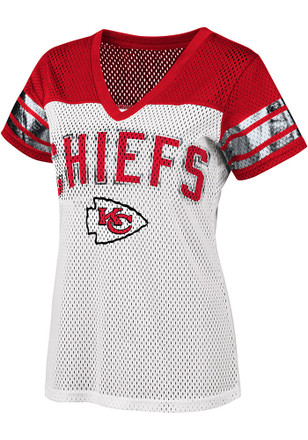 Kansas City Chiefs Womens All American Fashion Football Jersey - White