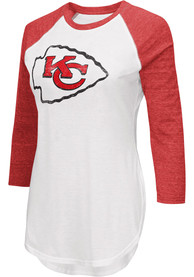 Kansas City Chiefs Womens White Tailgate Women's Crew