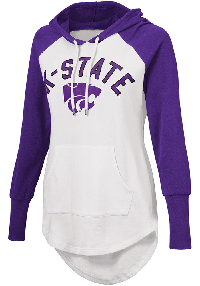 K-State Wildcats Womens White All Division Hooded Sweatshirt - Image 1