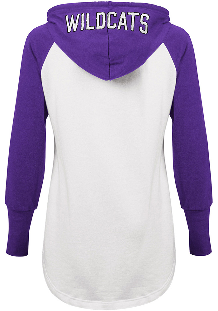 K-State Wildcats Womens White All Division Hooded Sweatshirt - Image 3