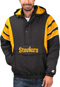 Pittsburgh Steelers Starter Impact Pullover Jackets - Black