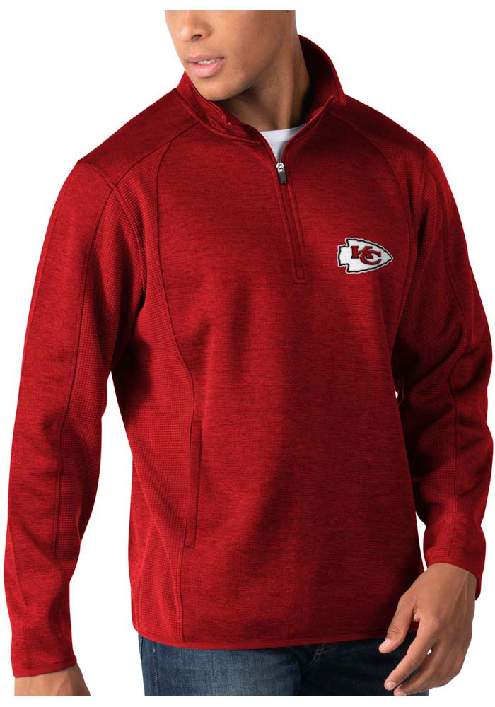 Kansas City Chiefs Mens Red Peacemaker Long Sleeve 1/4 Zip Pullover - Image 1
