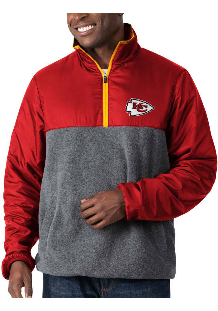 Kansas City Chiefs Mens Red Advance Long Sleeve 1/4 Zip Pullover - Image 1
