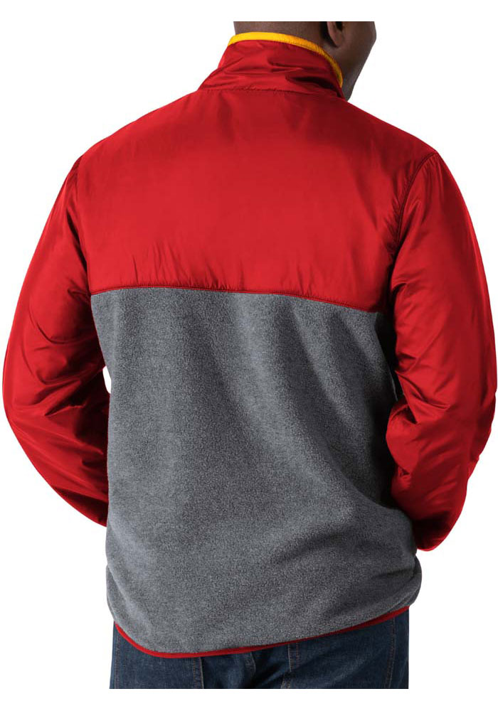 Kansas City Chiefs Mens Red Advance Long Sleeve 1/4 Zip Pullover - Image 2