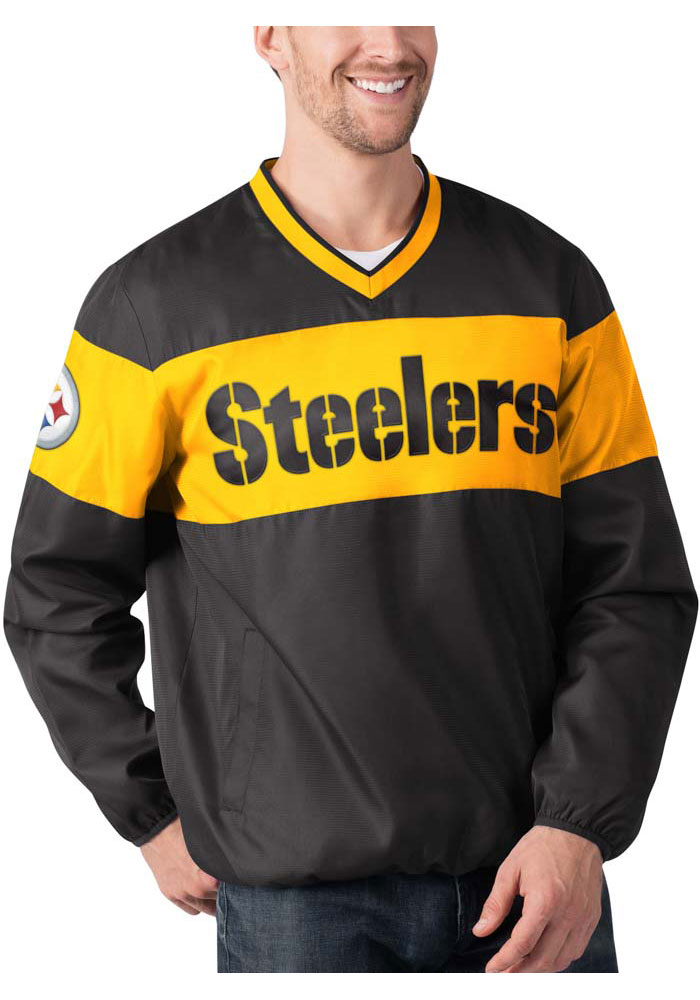 Pittsburgh Steelers Mens Black Slam Dunk Pullover Jackets - Image 1