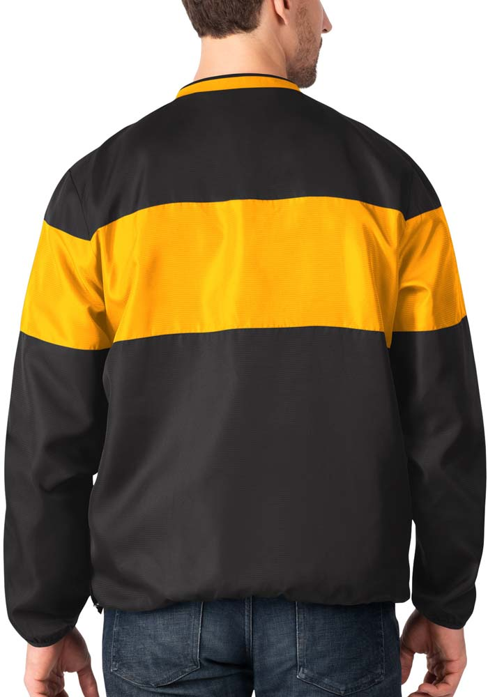 Pittsburgh Steelers Mens Black Slam Dunk Pullover Jackets - Image 2