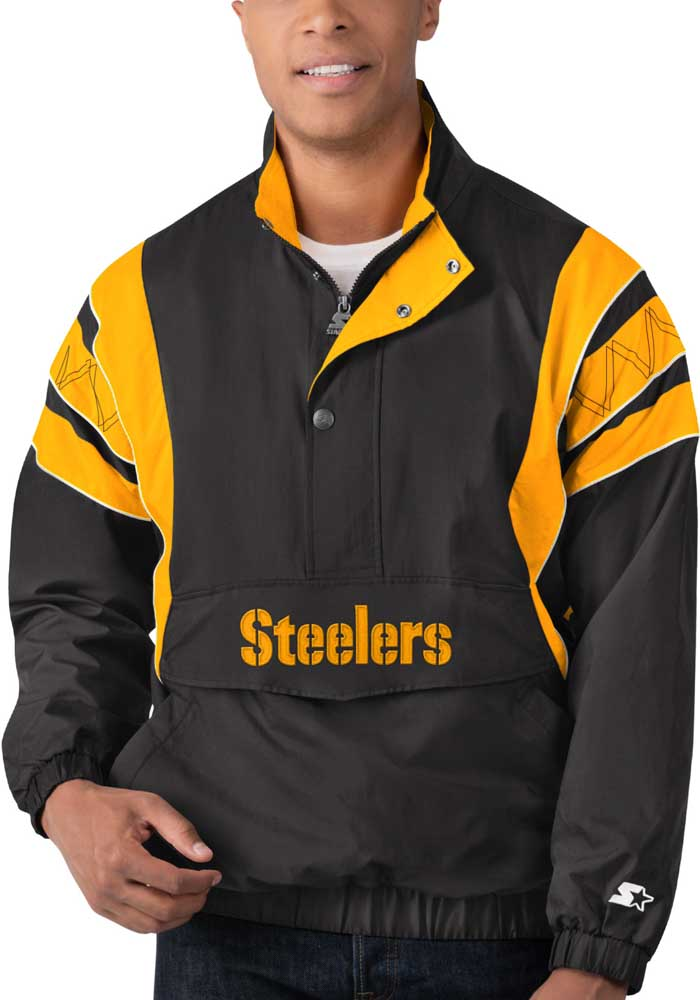 Starter Pittsburgh Steelers Mens Black Impact Pullover Jackets - Image 1