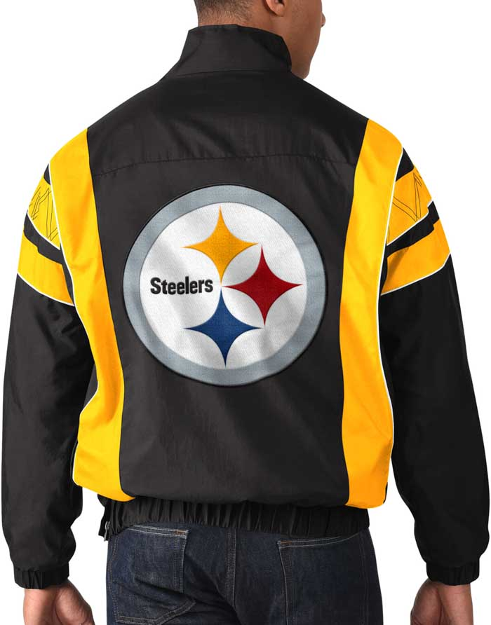 Starter Pittsburgh Steelers Mens Black Impact Pullover Jackets - Image 2