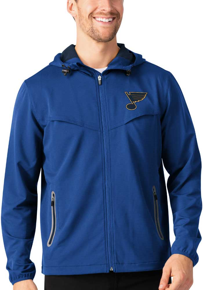St Louis Blues Mens Blue Energy Light Weight Jacket - Image 1