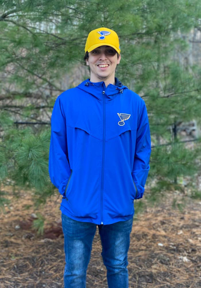 St Louis Blues Mens Blue Energy Light Weight Jacket - Image 3