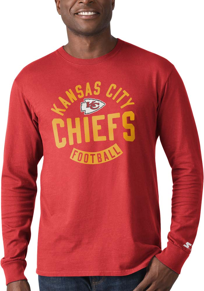 Kansas City Chiefs Red Record Setter Long Sleeve Fashion T Shirt - Image 1