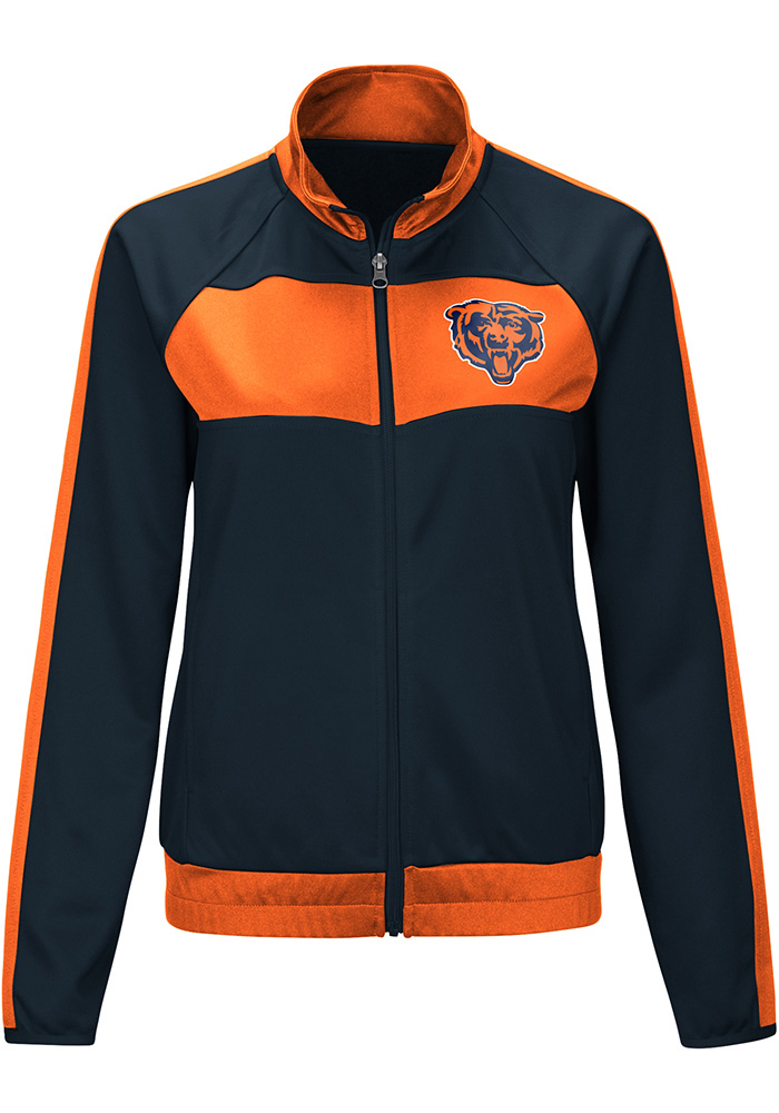 dce505dc6 Chicago Bears Womens Punt Navy Blue Track Jacket