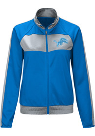 Detroit Lions Womens Punt Track Jacket - Blue