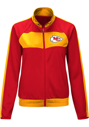 Kansas City Chiefs Womens Punt Red Track Jacket f166d697cf7b