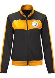 Pittsburgh Steelers Womens Punt Track Jacket - Black