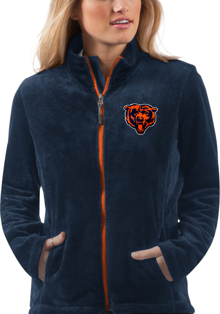 Chicago Bears Womens Navy Blue Goal Line Light Weight Jacket - Image 1