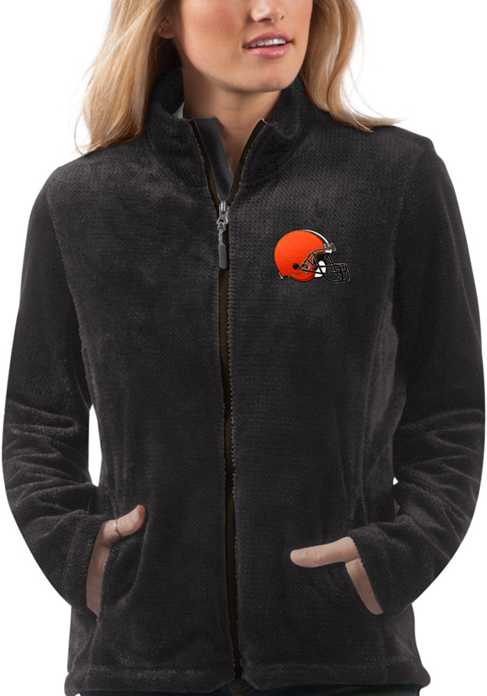 Cleveland Browns Womens Black Goal Line Light Weight Jacket - Image 1
