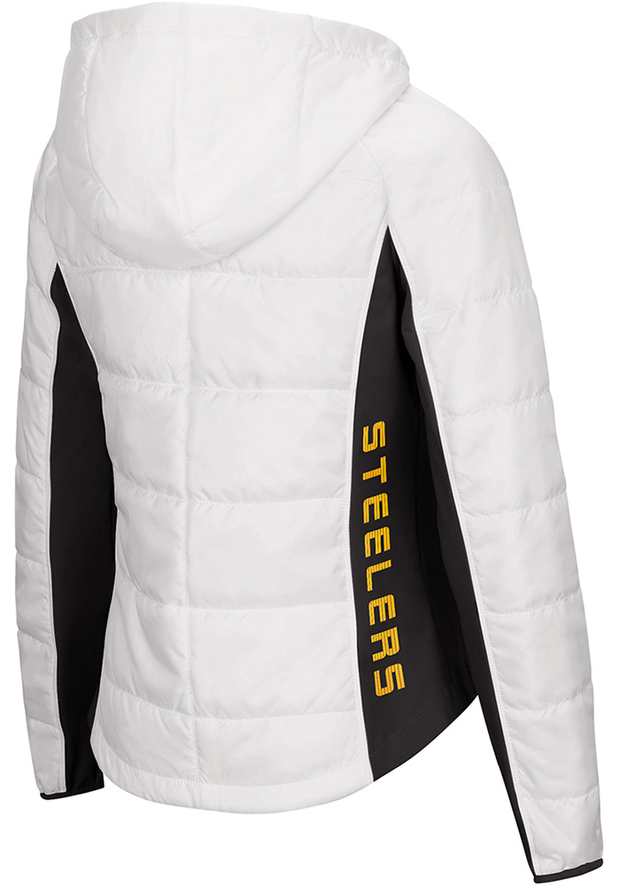 Pittsburgh Steelers Womens White Defense Polyfill Heavy Weight Jacket - Image 2