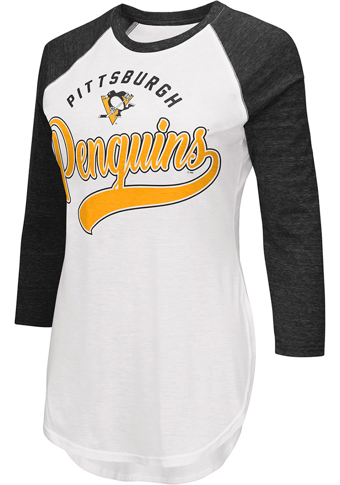 Pittsburgh Penguins Womens Black Tailgate LS Tee - Image 1