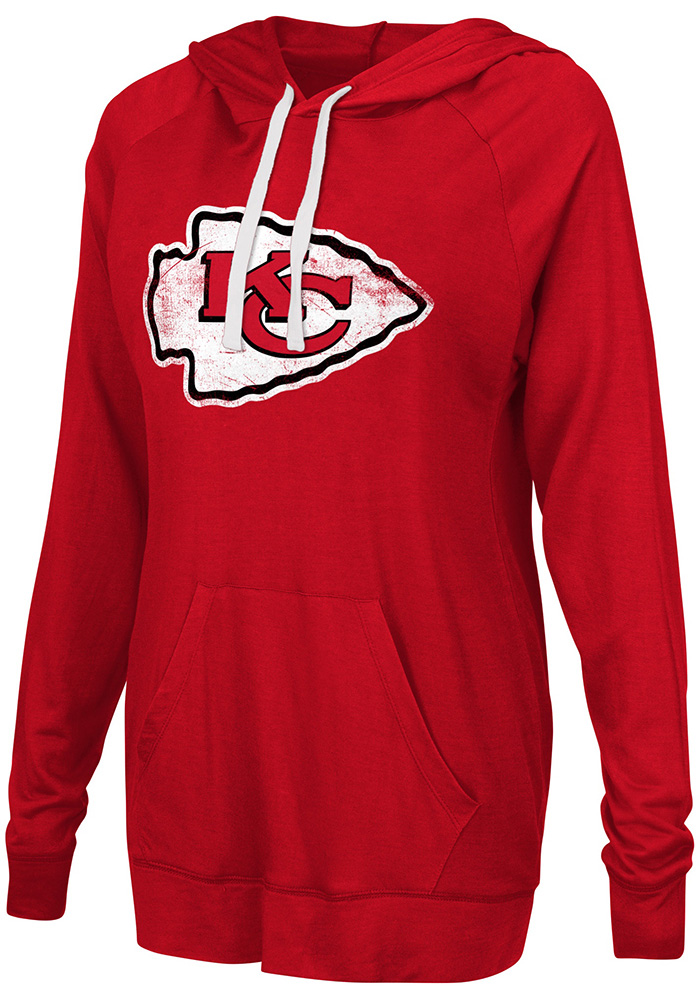 Kansas City Chiefs Womens Red Pre-Game Hooded Sweatshirt - Image 1